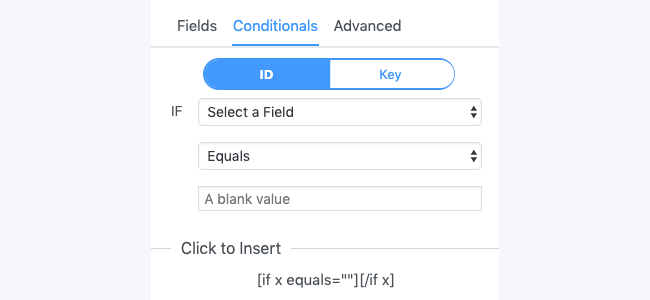 Conditional panel