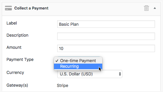Conditional Logic Stripe Form Action