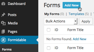 build email contact forms in wordpress