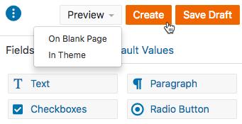 Create a Form Create Button