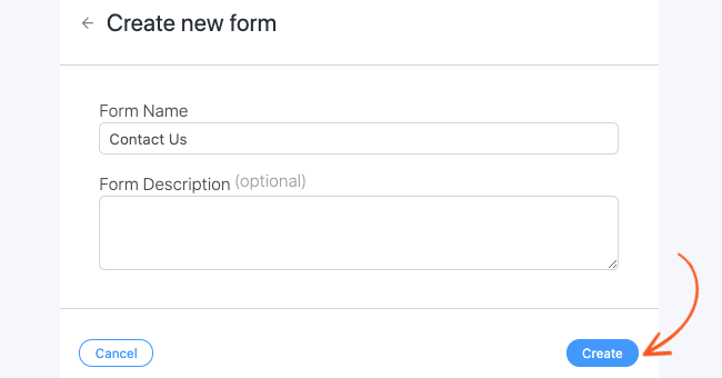 WordPress Create Form name