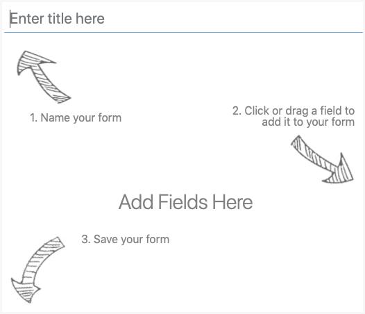 WordPress Create Form - Add Fields