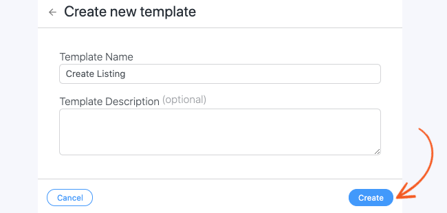 Create a Custom Template - Name