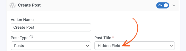 Create Posts Custom Post Title