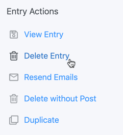 Delete Post and Entry from WordPress