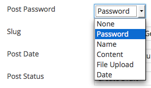 Create Post Password