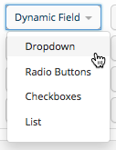 Create Posts Dynamic Drop-down