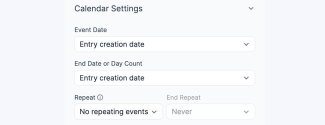 Create View Calendar