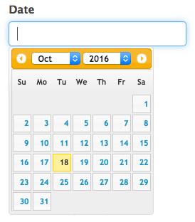 Date Field Calendar