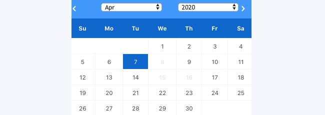 Date Unique Calendar