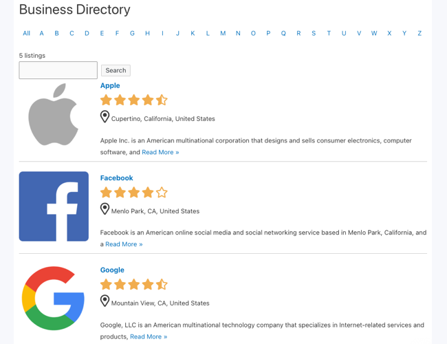 Create Business Directory