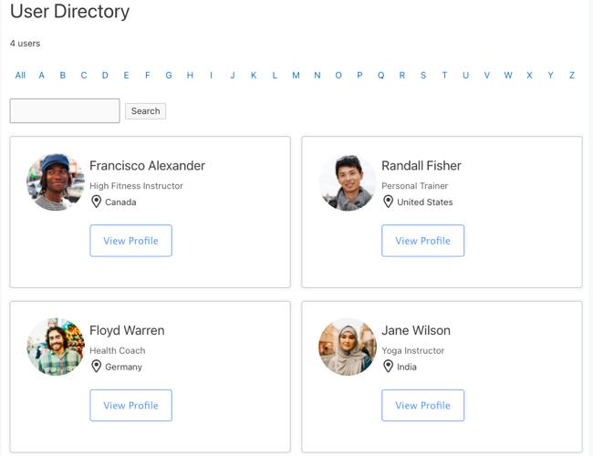 Create User Member Directory
