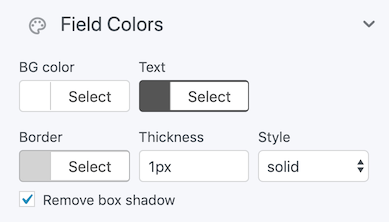 Email field colors