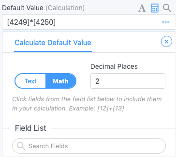 calculate field value