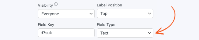 Field Options Required Type