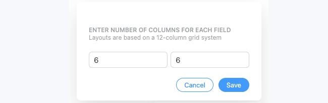 Field Options Row Custom layout