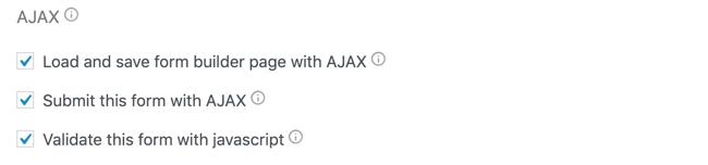 General Settings AJAX