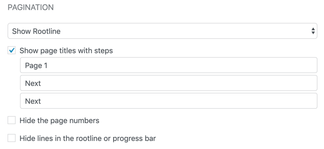 Form Settings - Show Page Titles