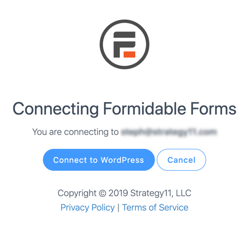 Connect to download Formidable