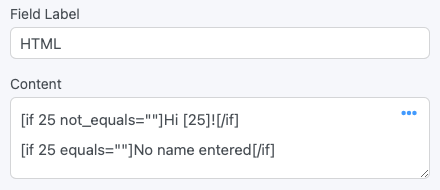 HTML Conditional Statement