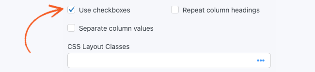 Likert Scale Use checkboxes