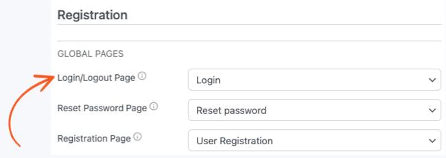 Login Form Registration Global Pages