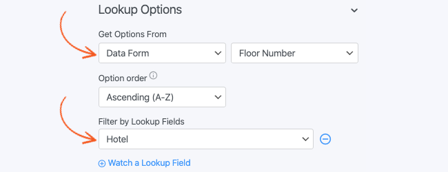 Lookup Checkbox Get Options From 2