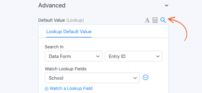 Lookup Entry ID Search in