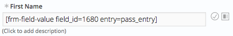 Pass Value URL field