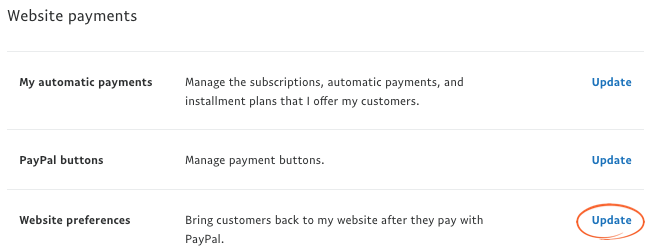 Paypal Website Payments
