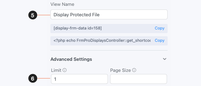 Protect File Upload - View Settings