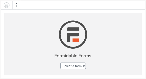 Publish form Block Select form Editor