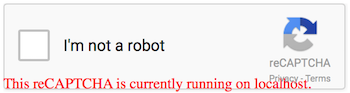 Google reCAPTCHA localhost