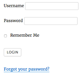 Forgot Password Link for reset password page