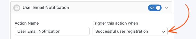 Register Reset Password Trigger Successful Registration
