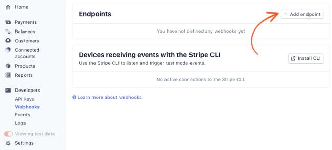 Stripe API Webhook Endpoint