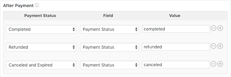 Stripe form Change Payment Status