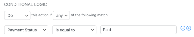Stripe Resend Email Conditional Logic Paid