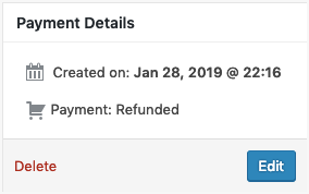 Stripe Refunded Payment