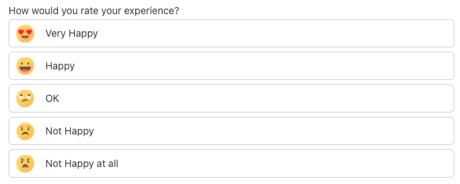 Survey Form Checkbox Radio with Buttons as Images form