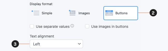 Survey Form Checkbox Radio with Buttons