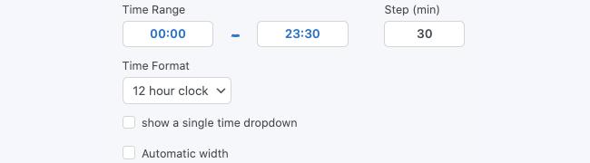 Time Clock Settings