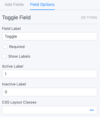 Toggle - Formidable Forms