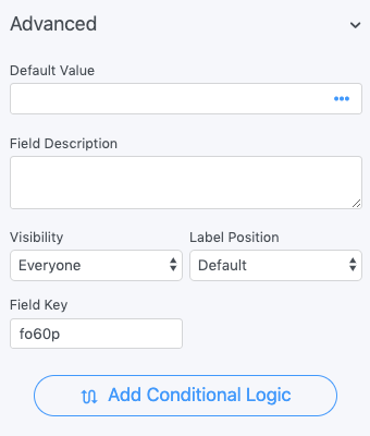 Toggle Field options