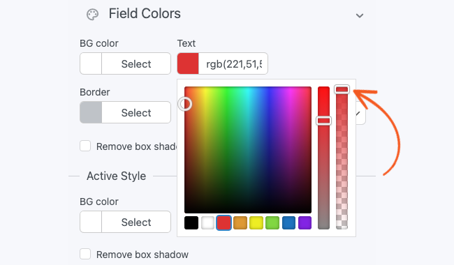 Visual Form Styler Color Picker