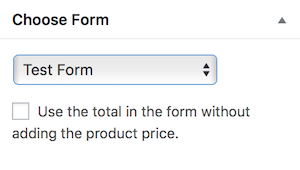 WooCommerce Choose Form