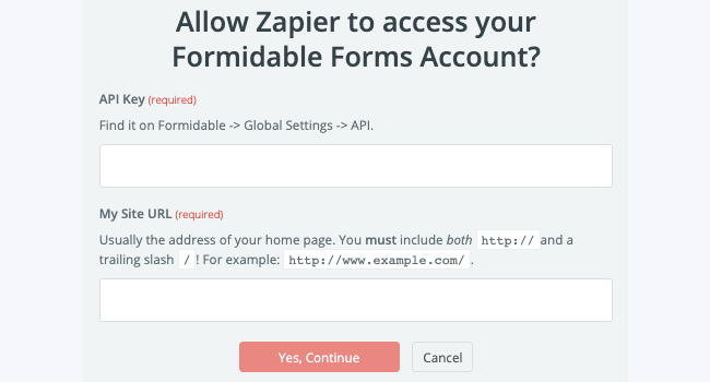 Zapier Add Account