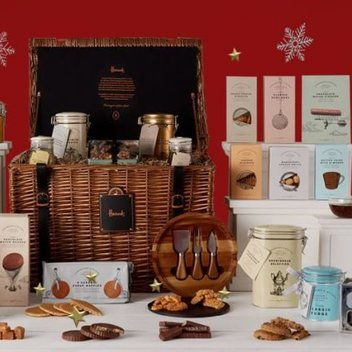 Feast on a festive Harrods hamper