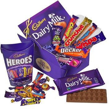 Enjoy a free Cadbury Chocolate Hamper