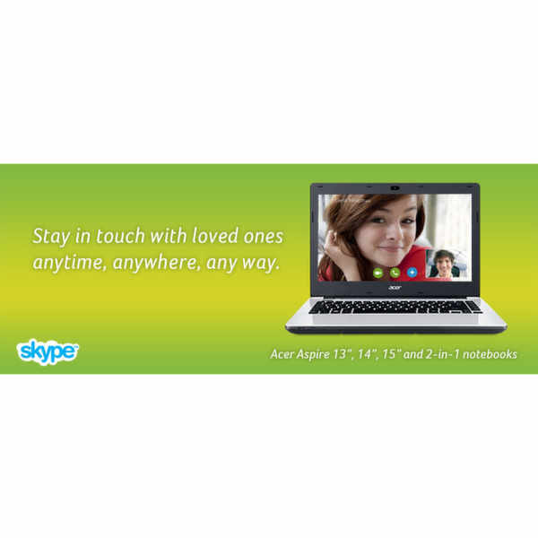 Enjoy 1 month of free Skype calls anywhere in the world